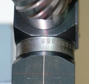 Лимб установки углов заточки корончатыз сверел на станке ERM-2