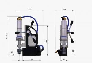 Схема магнитного станка с пневмоприводом Air Mab-5000
