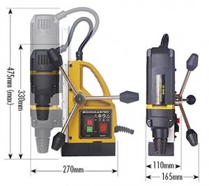 Размеры магнитного станка MBHM-35