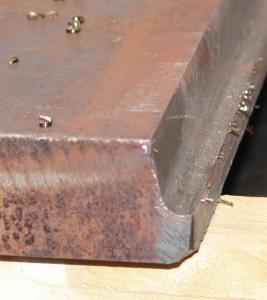 J-фаска обработанная фаскоснимателем СМФ-920